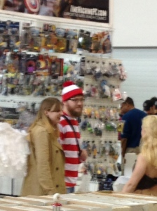Within 5 minutes of entering Cape Comic Con, we found Waldo!!!  Who knew he was down with angels in trench coats?